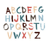 Painted Brush font. Stock Images