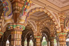 Painted Burmese teak archways Stock Image