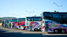 Painted buses Royalty Free Stock Photo