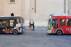 Painted buses in Rome Stock Photos