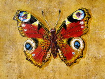Painted butterfly Stock Photos