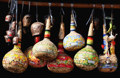 Painted calabash Stock Photography