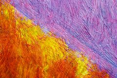Painted canvas. (nuances of red and blue colors on rough surface Royalty Free Stock Photo