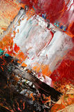 Painted canvas as background. Art is painted by photographer Royalty Free Stock Images