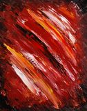 Painted canvas as background - dark red Royalty Free Stock Photos