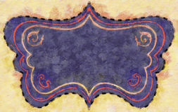 Painted Cartouche Frame Purple Royalty Free Stock Photos