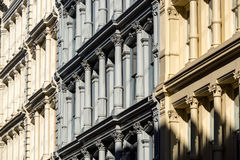 Painted cast Iron facades in Soho, Manhattan, New York City stock photography