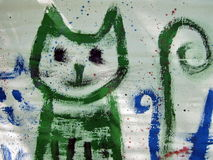 Painted cat stock photography