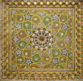 Painted ceiling. Traditional uzbek design stock images