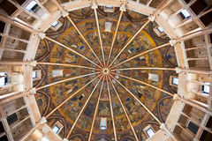 Painted ceiling of The Baptistery of Parma Royalty Free Stock Photo
