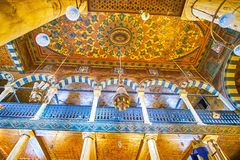 The painted ceiling of Ben Ezra Synagogue in Cairo, Egypt Stock Images