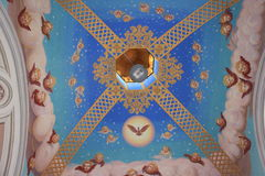 Painted ceiling in the church Stock Photography