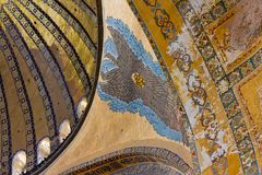 Painted ceiling in Hagia Sophia Istanbul Royalty Free Stock Photos
