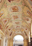Painted ceiling in the Loggia delle Benedizioni, Rome, Italy Stock Photo