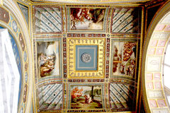 Painted ceiling. The Raphael loggias Royalty Free Stock Photo