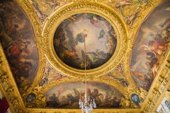 Painted ceiling of the Salon de la Guerre Royalty Free Stock Images