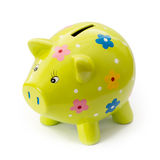 Painted ceramic piggy bank Stock Images