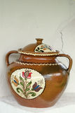 Painted ceramic pot royalty free stock photo