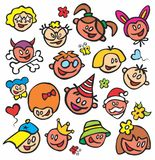 Painted children's faces Stock Image