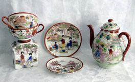 Painted china 5 stock images