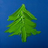 Painted Christmas Tree Stock Images