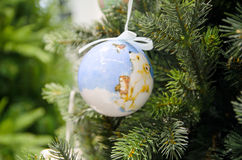 Painted Christmas tree ball Royalty Free Stock Photos