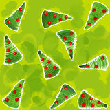Painted Christmas Wrapping paper Royalty Free Stock Image