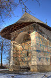 Painted Church. Arbore Painted church in Romania stock photos