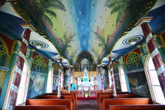 Painted Church on the big island of Hawaii Stock Photography