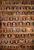 Painted church ceiling in ethiopia Stock Photography