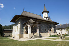 Painted church in Moldavia Royalty Free Stock Photo