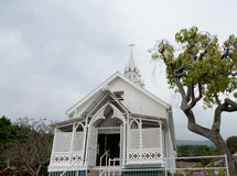Painted Church of St Benedict's of Big Island, royalty free stock photography