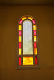 Painted church window Royalty Free Stock Images