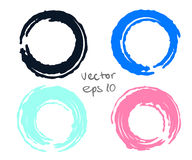 Painted circles set Stock Image