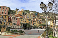 Painted city. A panorama of a painted city in italian riviera Royalty Free Stock Photo