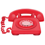 Painted classic telephone Royalty Free Stock Photography