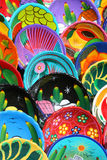 Painted Clay Bowls Royalty Free Stock Image