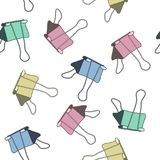 Painted clerical clip. A sketch. Seamless vector pattern. royalty free illustration