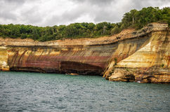 Painted cliff. At Pictured Rocks National Lakeshore Stock Photo