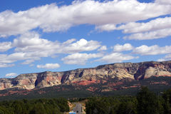 Painted cliffs and mesa bluffs Stock Photography
