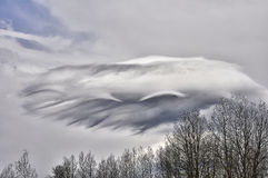 Painted a cloud in the sky. Stock Photos