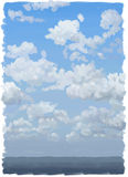 Painted with clouds Stock Photography