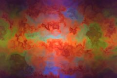 Painted clouds on a wall Royalty Free Stock Images