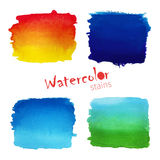Painted color  banners. Watercolor background Royalty Free Stock Images