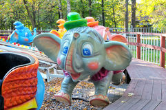 Painted colorful carousel elephants Royalty Free Stock Photo