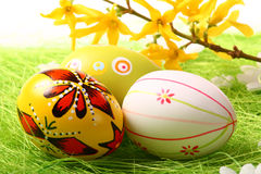 Painted Colorful Easter Eggs Royalty Free Stock Photography