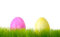 Painted colorful Easter eggs Royalty Free Stock Images