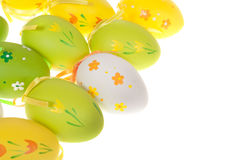 Painted Colorful Easter Eggs Stock Photos