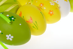 Painted Colorful Easter Eggs Stock Images