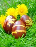 Painted Colorful Easter Eggs Stock Photography